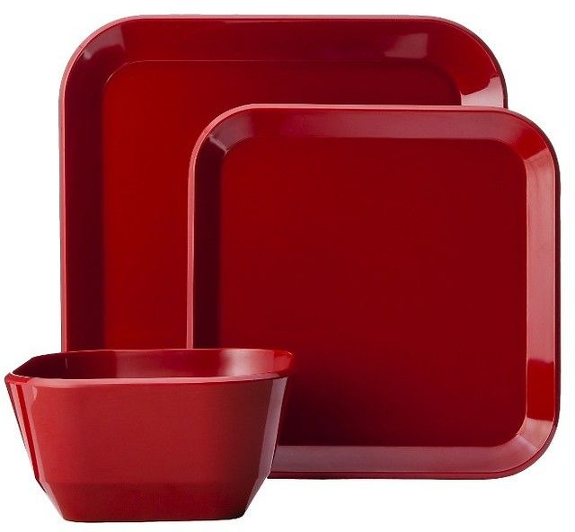 12-Piece Room Essentials Square Dinnerware Set (4 Colors) $17.60 (target.com)