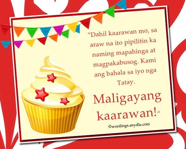 Happy birthday messages in tagalog wordings and set of red gold buddha figurines
