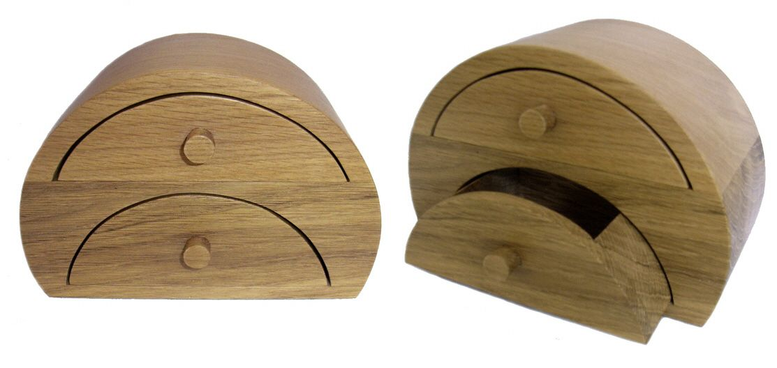 2 Drawer Oak Jewellery Box Wooden Jewellery boxes and trinket boxes