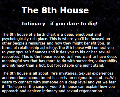 The 8th House Intimacy…if you dare to dig! by Sexual Astrology