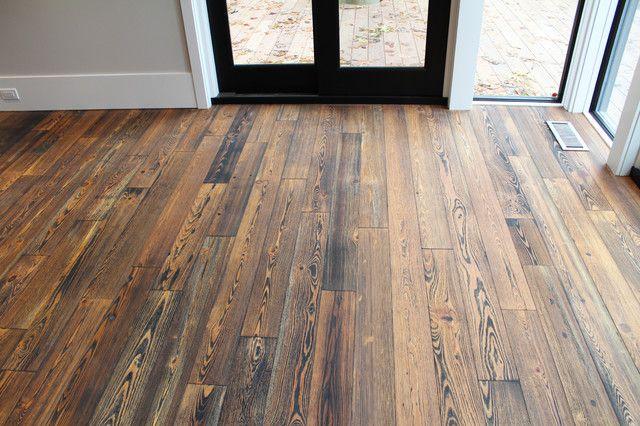 Rustic Wood Flooring Living Room With Rustic Floor