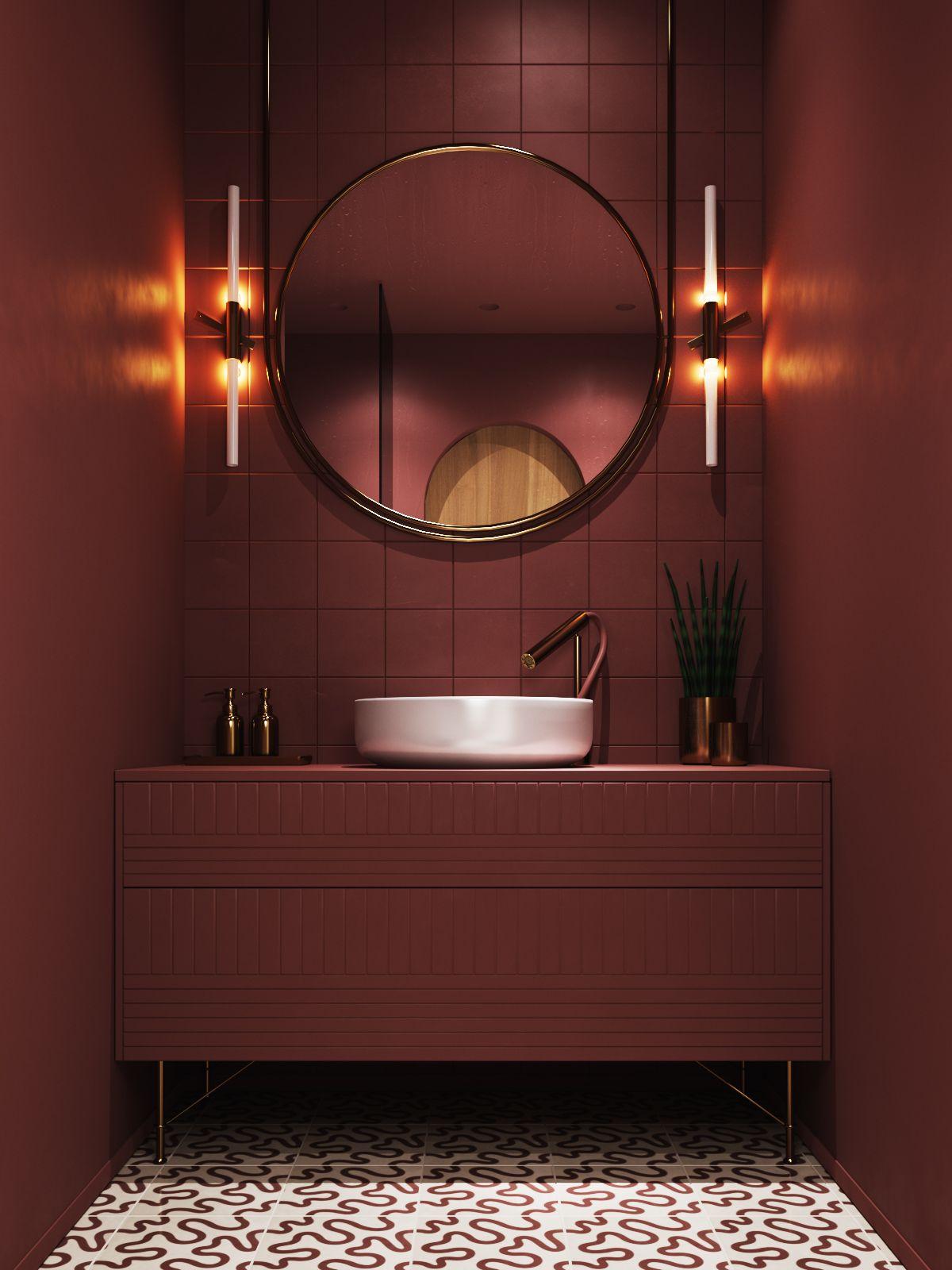 "Velvet"" bathroom  Bathroom decor, Contemporary bathroom designs"