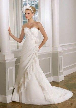 flowy w/ slight corset  informal wedding dresses wedding