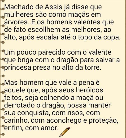 Diálogo com Machado de Assis.
