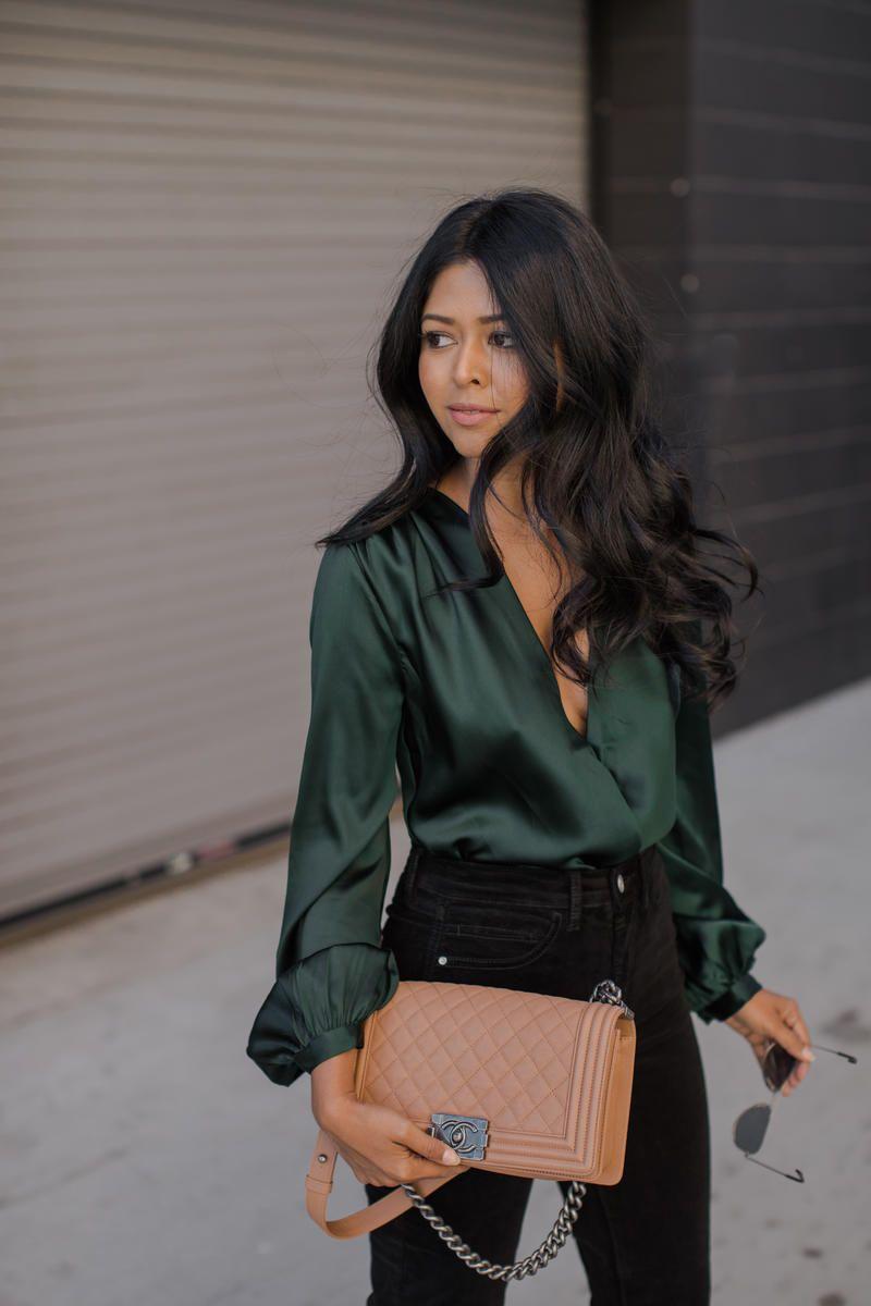 73a972c1e95418   Silk shirts yes. Deep v s ok. I own camis!   GIVEAWAY!  500 VISA GIFTCARD  – Walk In Wonderland. 30+ Stylish Blouse Top ...