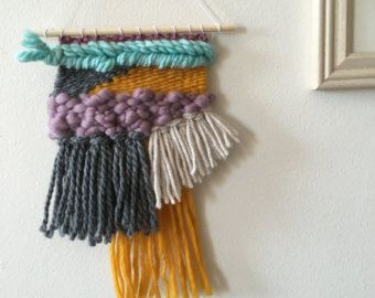 Neutrals & Navy Weaving HandWoven Wall Hanging by hellohydrangea