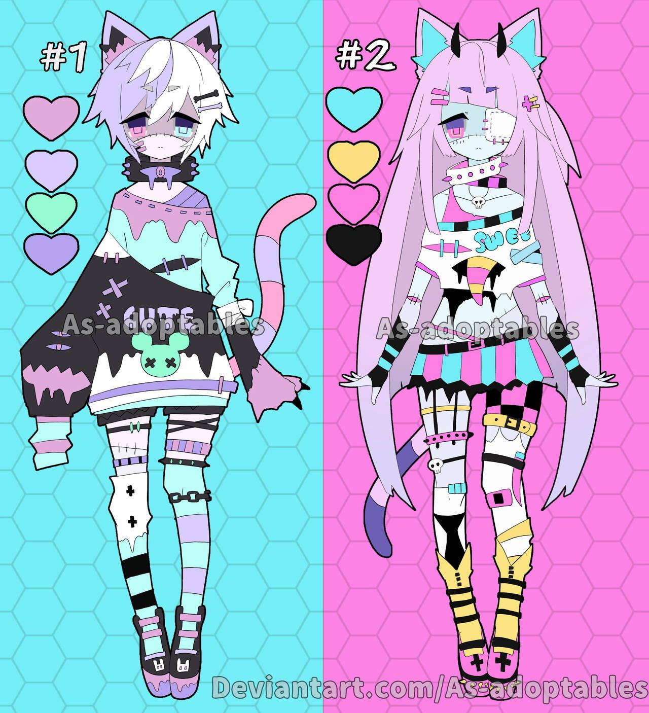 Zombie Neko Adoptables Closed By As Adoptables On Deviantart Anime Character Design Cute Art Cute Drawings