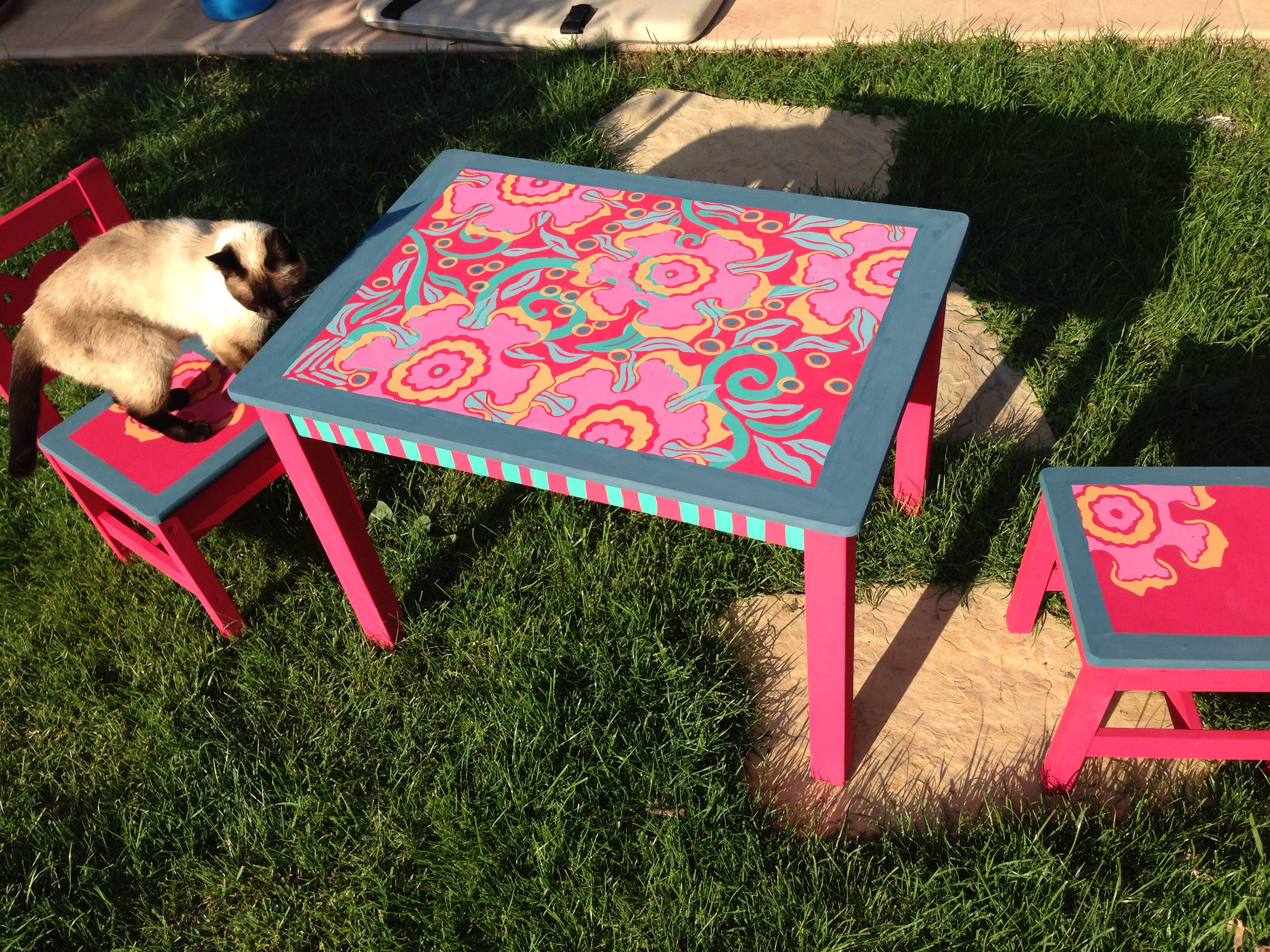 Chalk Paint On Old Ikea Kids Table U0026 Chairs.