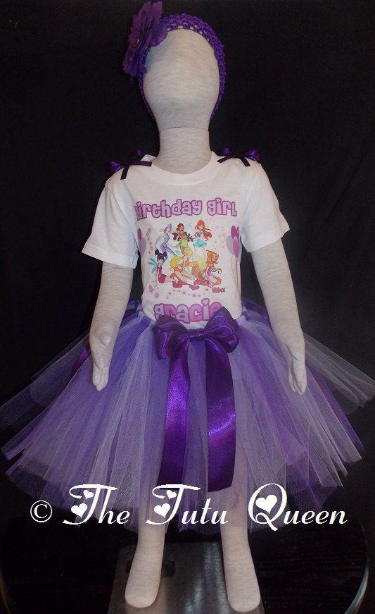 Winx Club Birthday Outfit  3 PIECE SET  Tutu by TheTutuQueenCom, $28.99