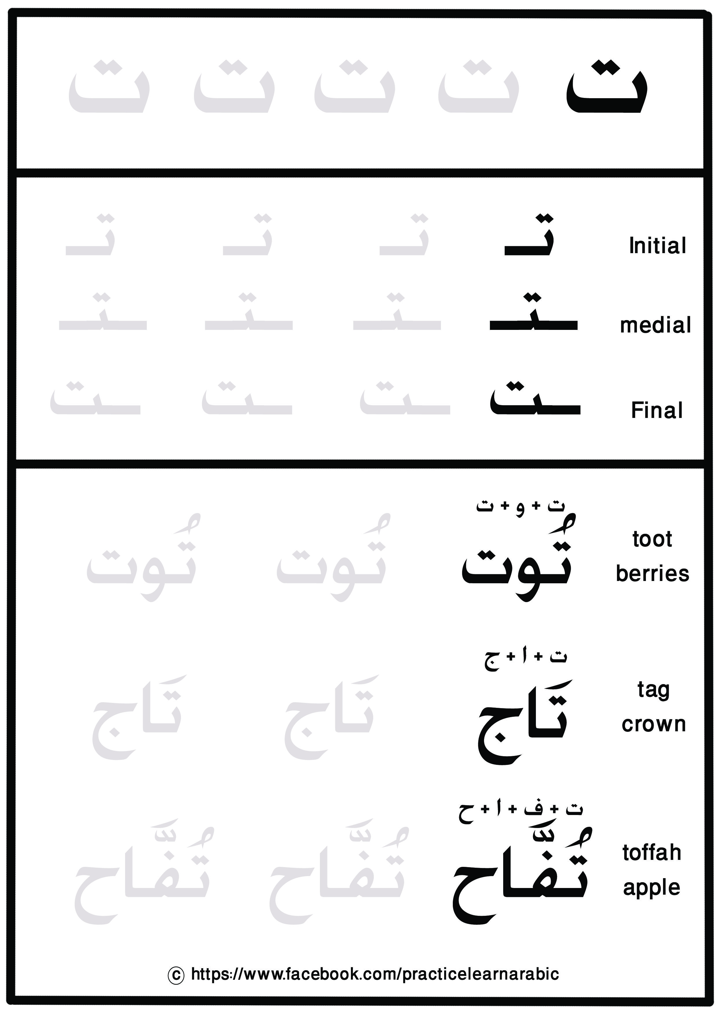 Learn Arabic Letters And New Words