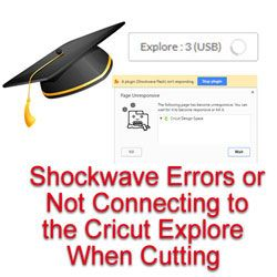 How to fix shockwave errors in Cricut Design Space (or not