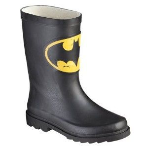 Youth Batman Signal Rain Boots - Black