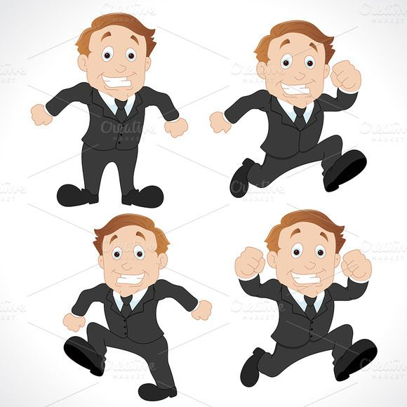Check out Businessman Mascots Characters by TrueMitra Designs on Creative Market