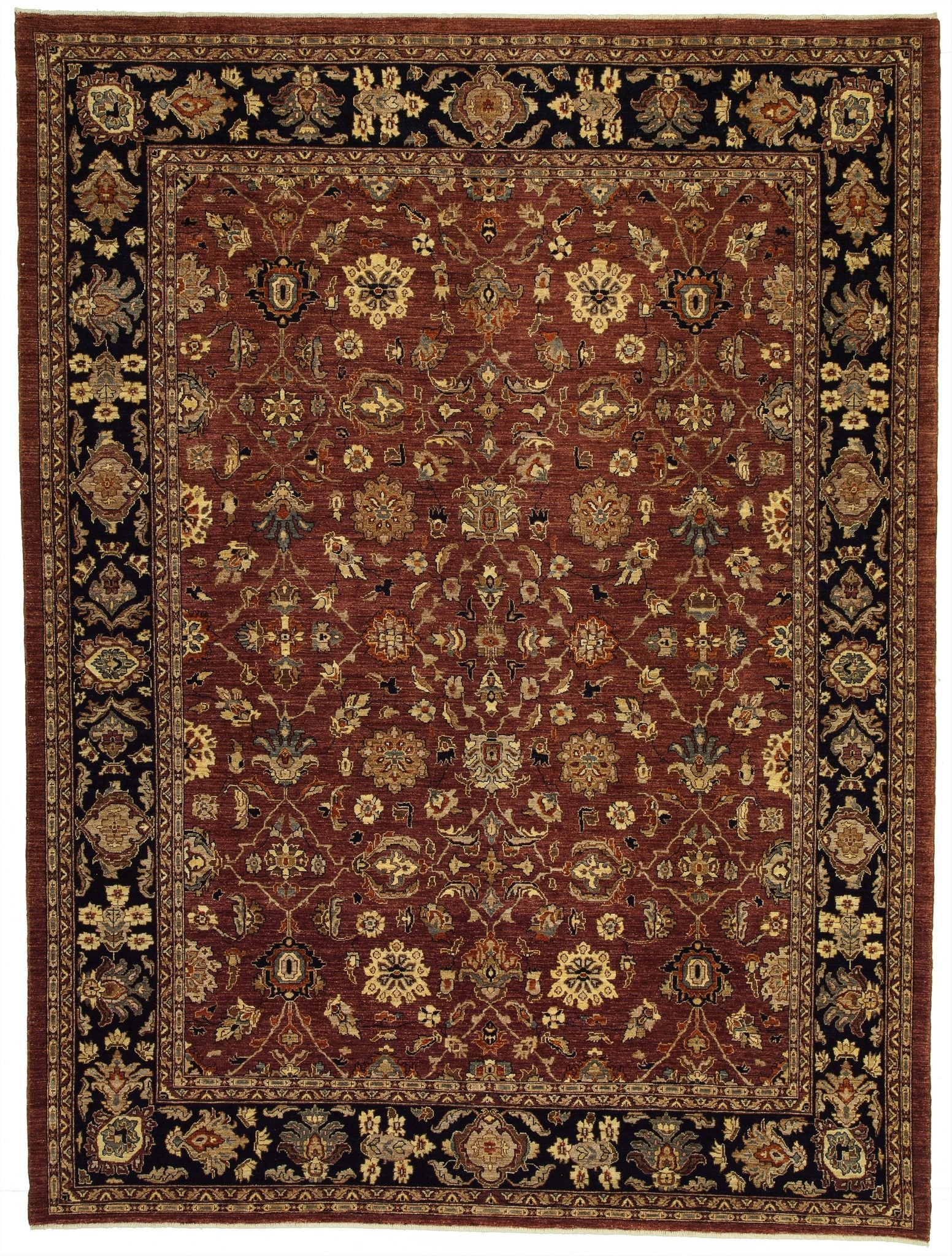 New Stan Hand Woven Antique Reproduction Of A 19th Century Persian Carpet 9 1