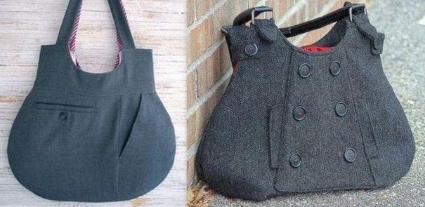 20818318b35e78 Recycler ses habits pour en faire des sacs Modèles De Sac, Sac À Main,