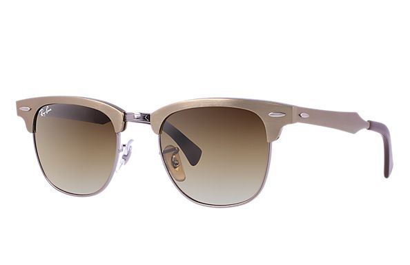 feabc7c6394c1a Ray-Ban 0RB3016M - CLUBMASTER WOOD SUN   Official Ray-Ban ..Frame Material   Aluminum Frame Color  Bronze-Copper Lenses  Brown Gradient