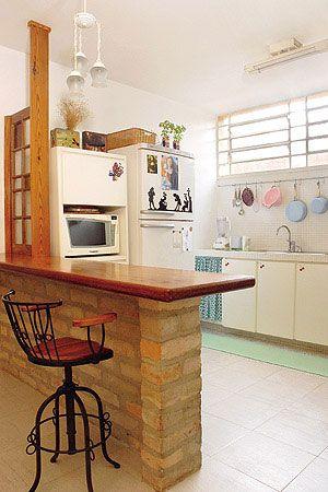 Balcao De Cozinha Com Imagens Cozinha De Tijolos Balcao