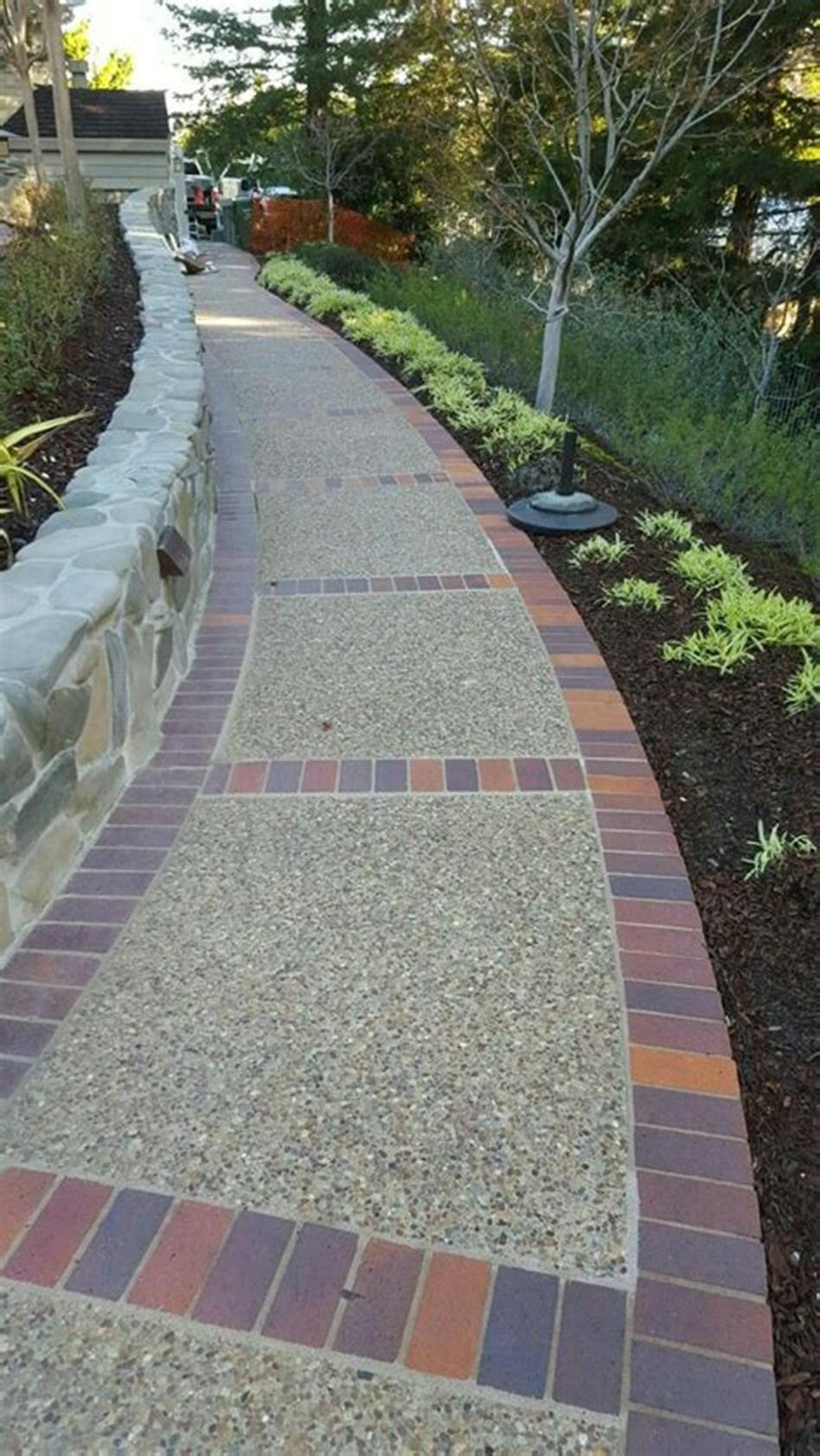 40+ best brick and concrete walkway designs ideas | garden