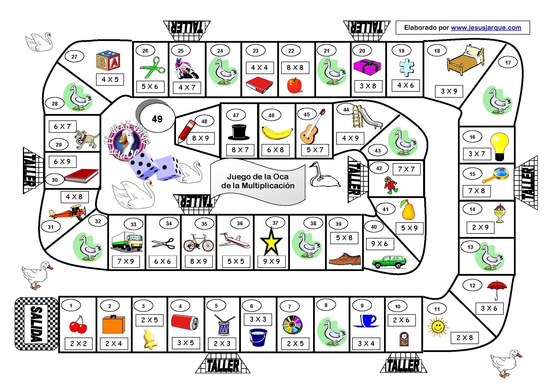 juego-de-la-oca-multiplicacion : fantástico juego de la Oca para ...