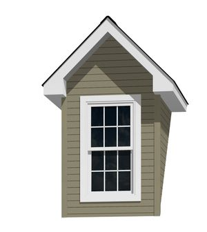 5 Doghouse Dormer For A 12 12 Pitch Roof With 2446 Window