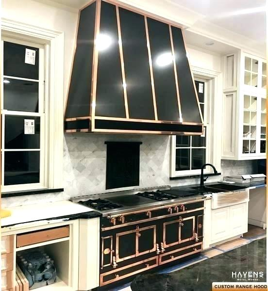 Black Oven Hood Custom Range With Copper Stranding Stainless Wall Mount Vent Lg H 0 White Kitchen And Bath Gallery Custom Range Hood Stainless Steel Range Hood