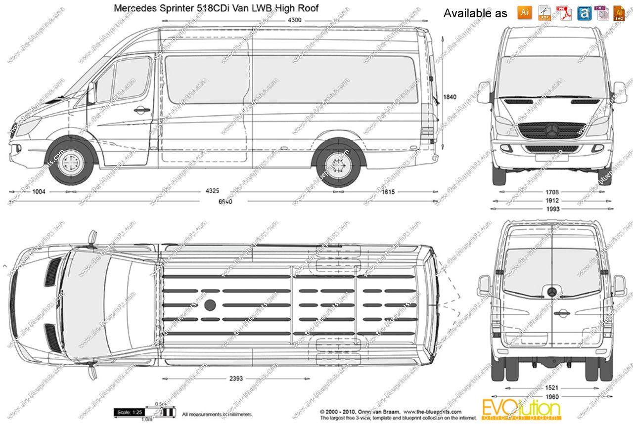Image Result For Mercedes Benz Sprinter 518 Cdi Van Lwb High Roof Vintage Airstream Wiring Diagram