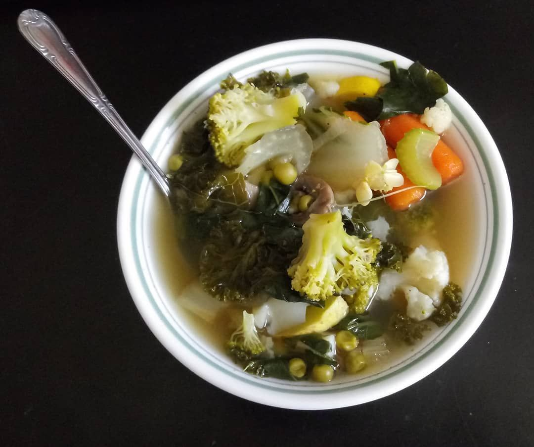 My [GET WELL] soup. Made from scratch. Gods ingredients.
