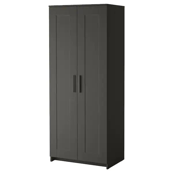 Brimnes Wardrobe With 2 Doors Gray Ikea Brimnes Doors