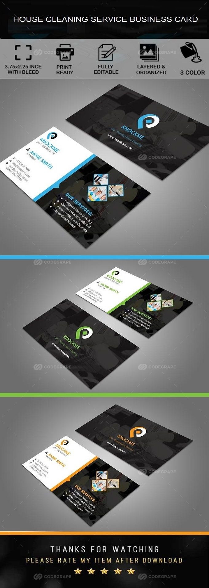 Business Card Cleaning Logo Business Cleaning Business Cards Business Card Template Design