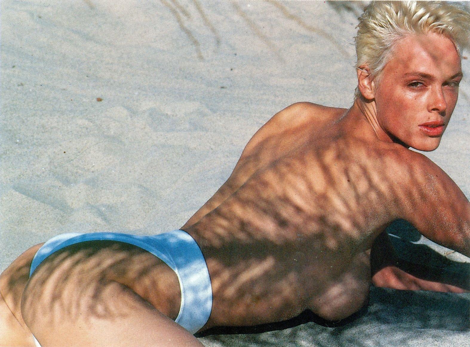 Brigitte Nielsen: Brigitte Nielsen, Malibu, 1987, By Herb Ritts Brigitte