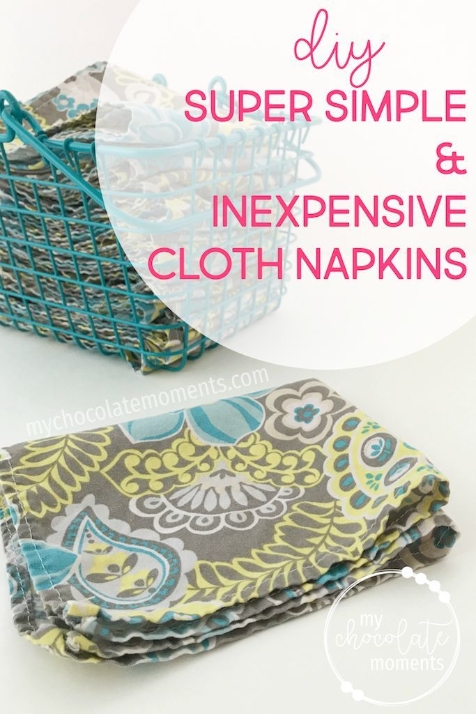 Diy Cloth Napkins Cloth Napkins Sewing Projects For Kids Diy