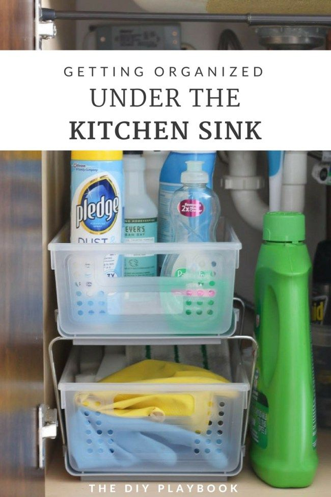 How to Organize the Cabinet Under Your Kitchen Sink Sinks