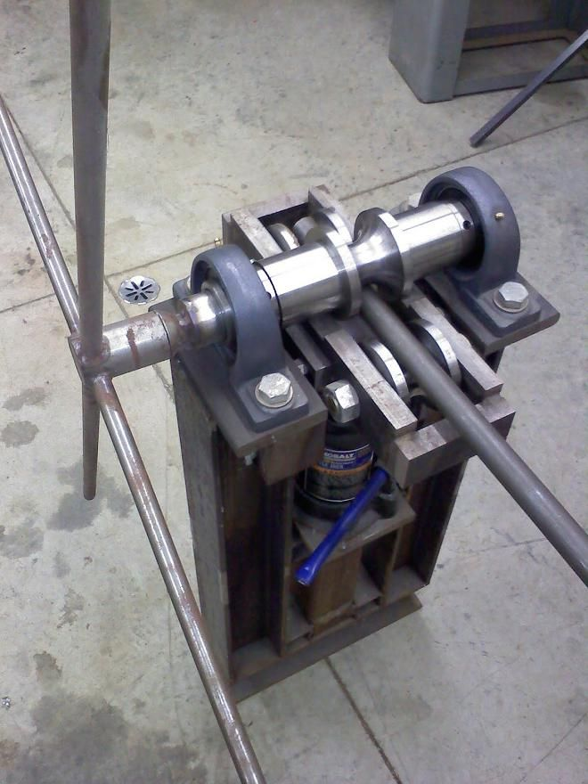 Anyone ever used this tubing roller/bender?- Mtbr Станок - fabrication presse hydraulique maison
