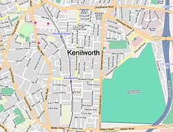 Street map of Kenilworth where we lived in Cape Town on Rosmead