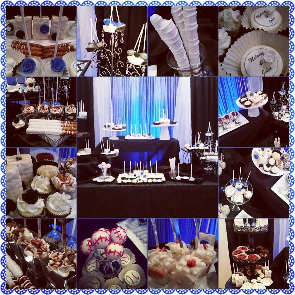 Cake Table With Backdrop Royal Blue Wedding Theme Wedding Top Table Blue Themed Wedding