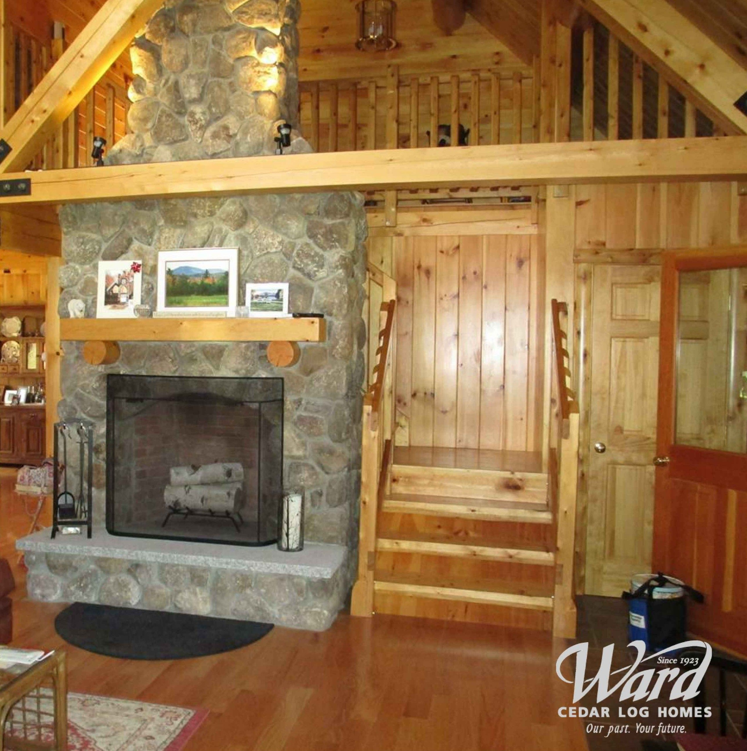 perfect spot to put a fireplace in the center of the home with the