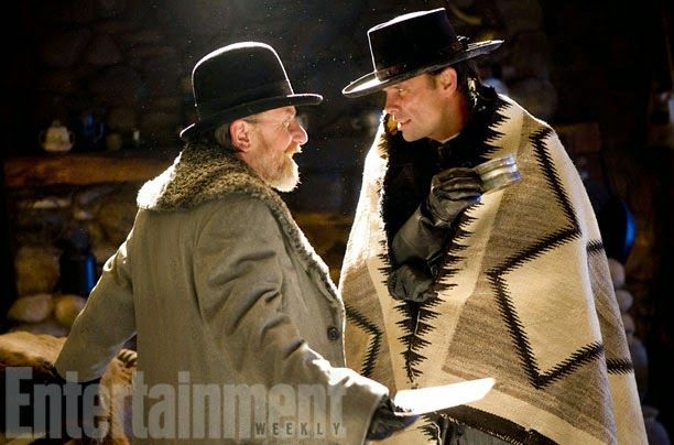 Walton Goggins and Tim Roth in The Hateful Eight