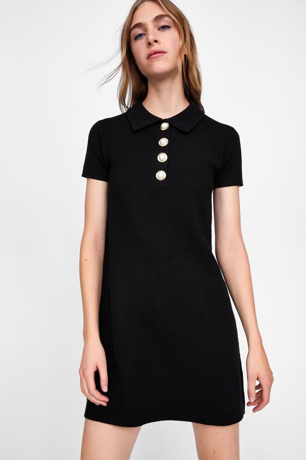 Afbeelding 2 Van Jurk Met Parels Van Zara Womens Fashion Dresses Casual Fashion Clothes Women Zara Black Dress [ 1536 x 1024 Pixel ]