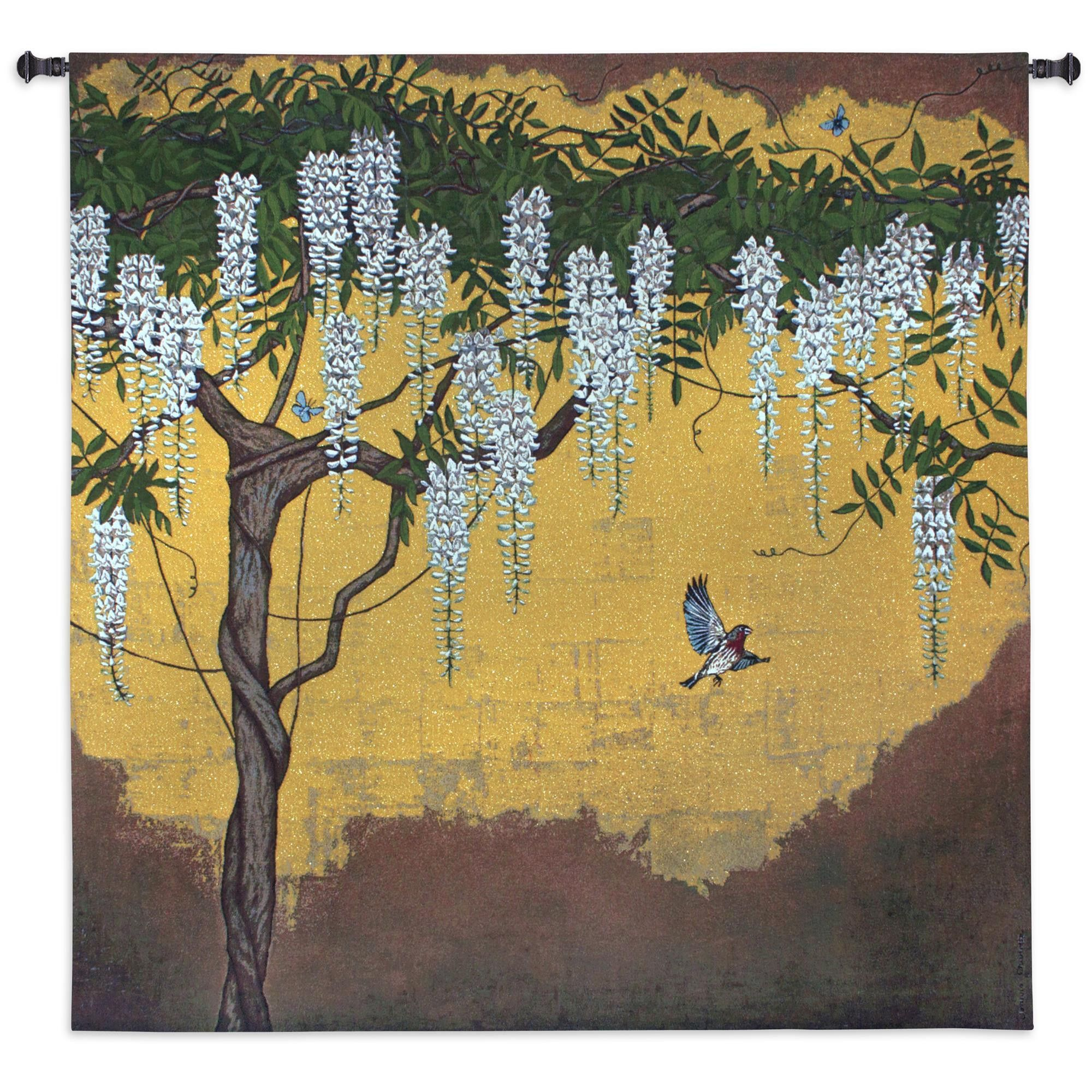 Wisteria With House Finch Wall Tapestry | Products | Pinterest ...