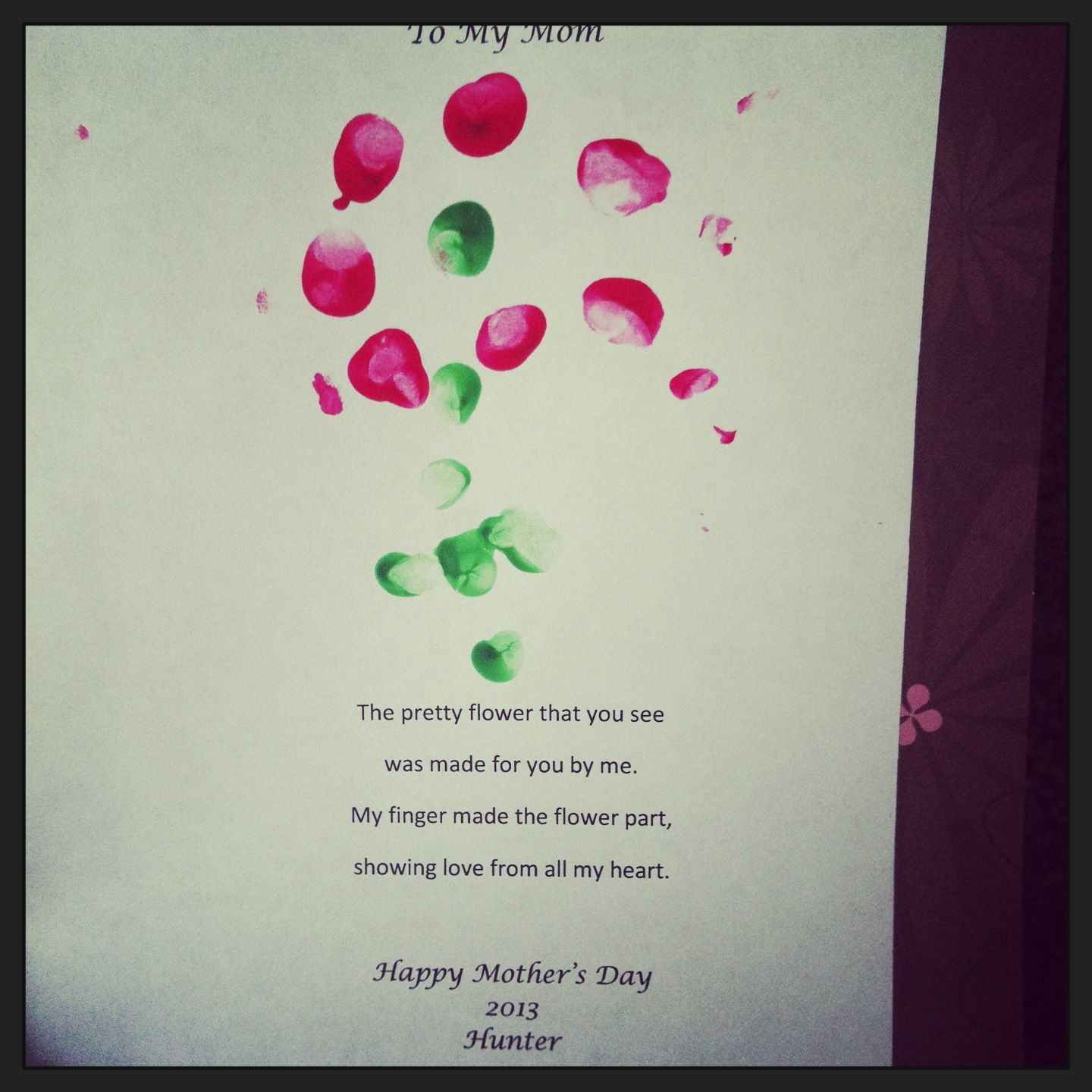 Mother S Day Baby Craft