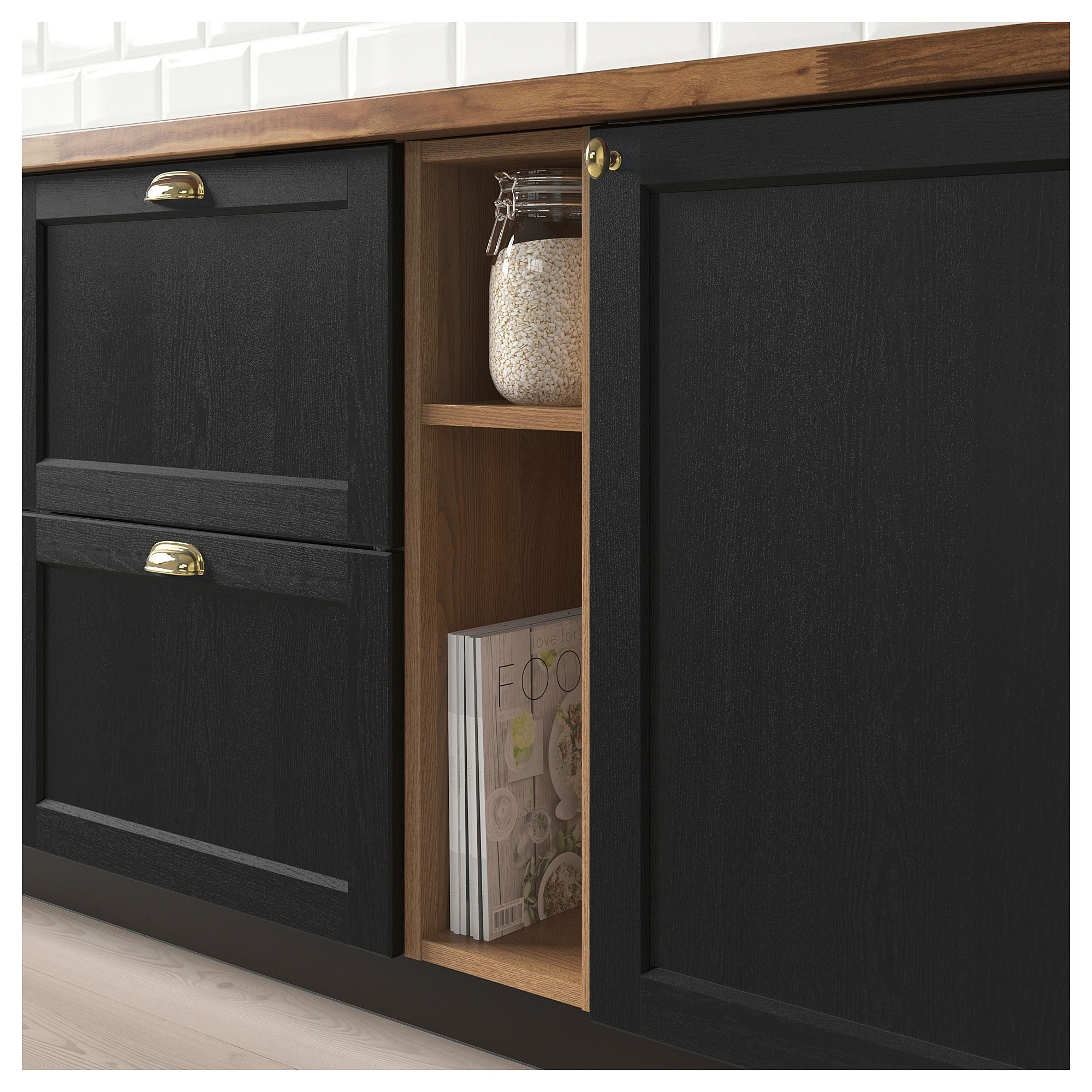 Vadholma Open Storage Brown Stained Ash 9x14 3 8x30 23x37x76