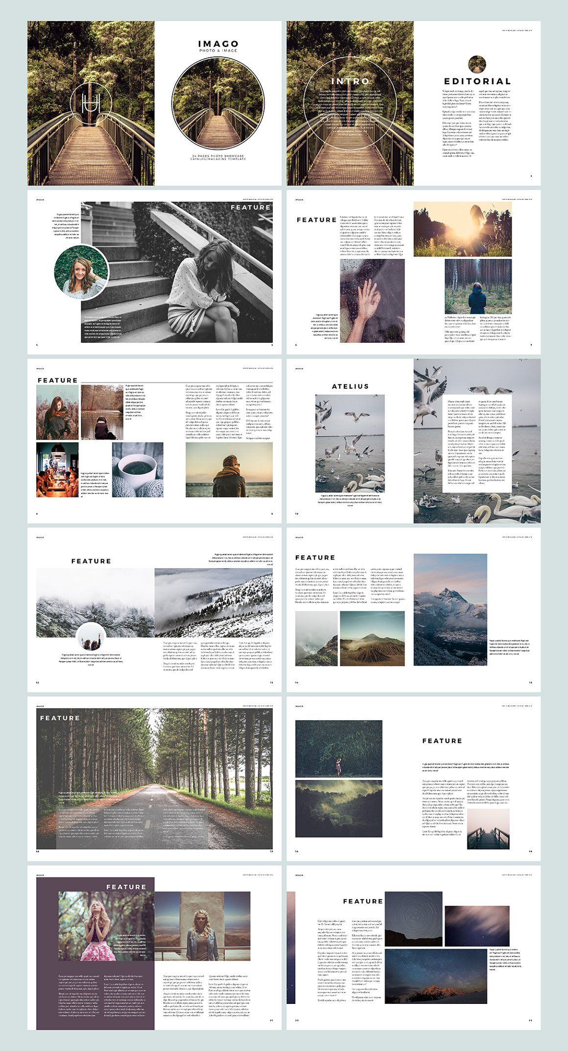 Imago - inDesign Template