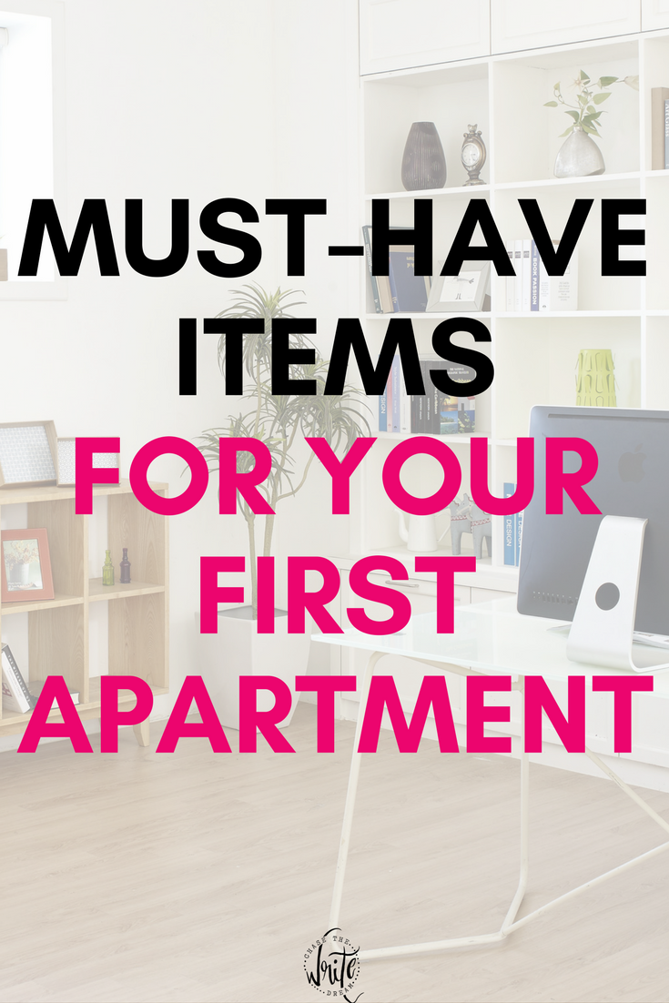 Must-Have Items for Your First Apartment | Apartment checklist ...