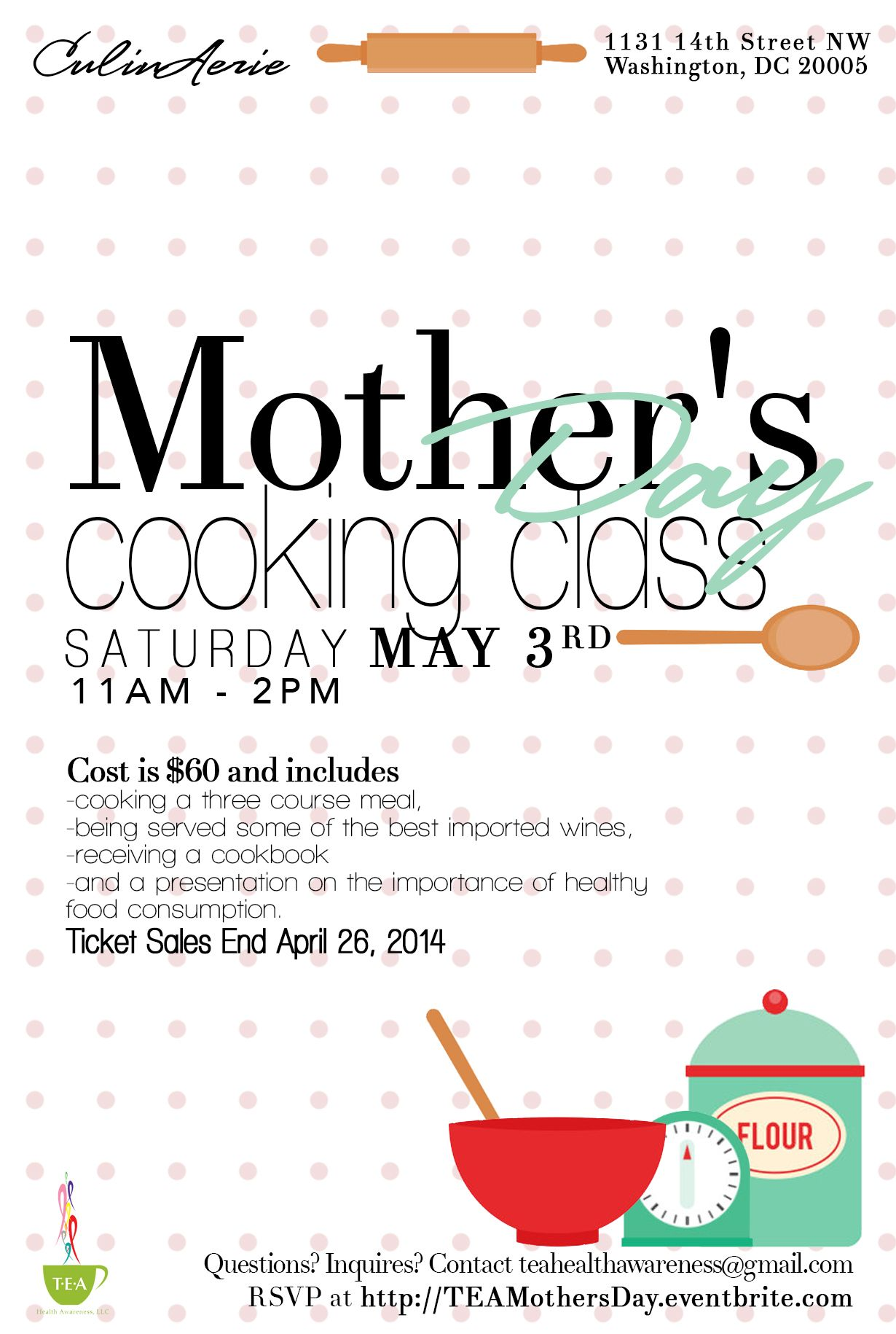 mother s day cooking class flyer by casey renae flyers by mother s day cooking class flyer by casey renae