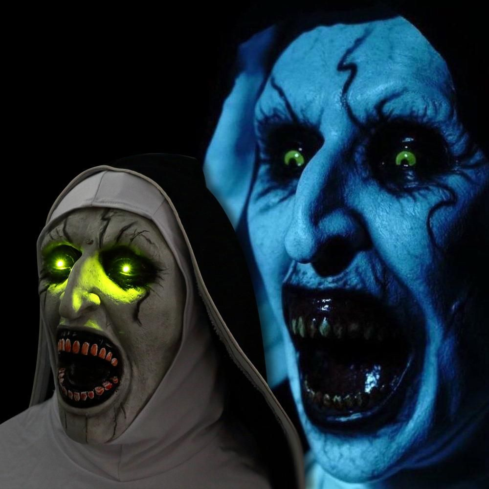2018 The Nun Cosplay Demon Nun Horror Mask The Conjuring