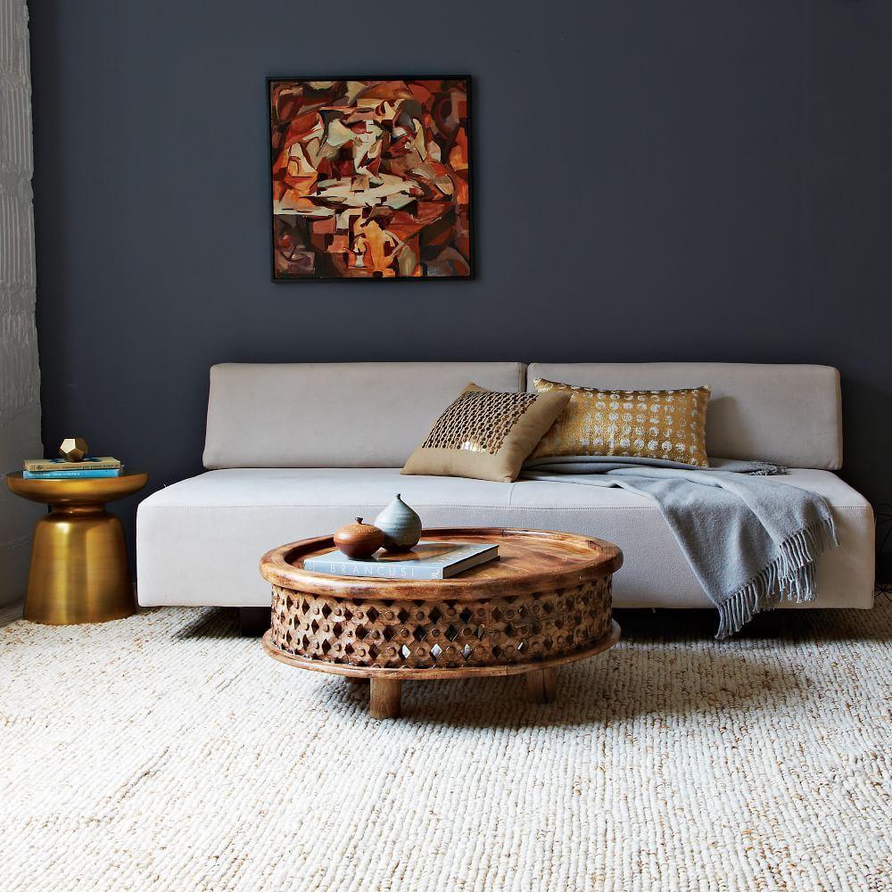 Sweater Wool Rug Oatmeal Coffee Table Furniture Coffee Table Wood
