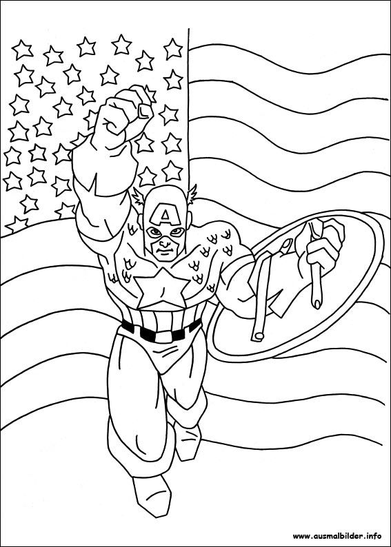 captain america ausmalbilder – Ausmalbilder für kinder ...