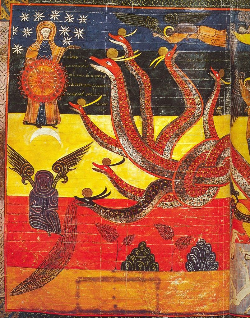 Apocalypse Beatus De Facundus 1047 Castille Bib Naccional Madrid Wiki Medieval Art Romanesque Art Medieval Paintings