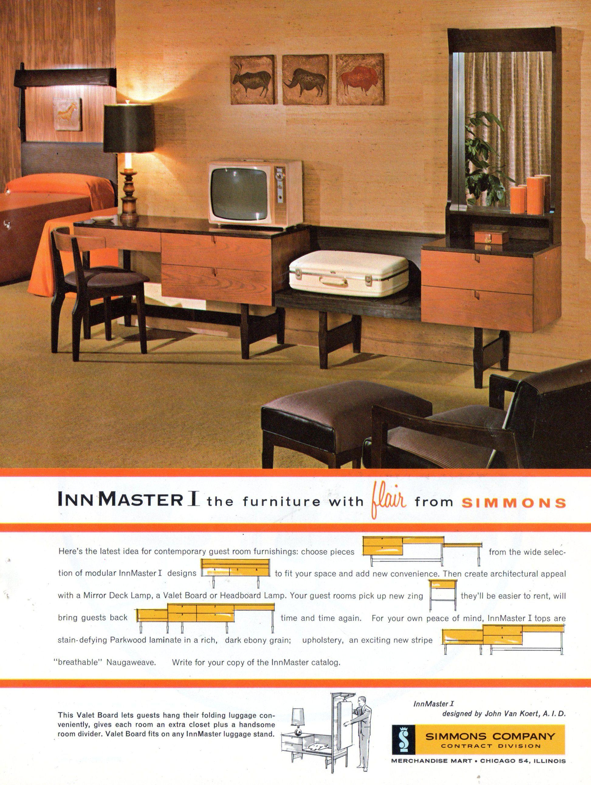 . 1960 s Hotel decor   1960 s   Hotel ads  Modern hotel room
