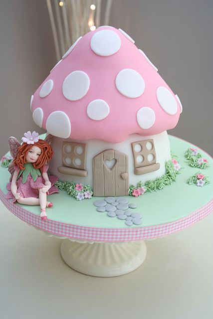 Fairy Toadstool Cake Part Of Our Enchanted Garden Range Flickr Photo Sharing